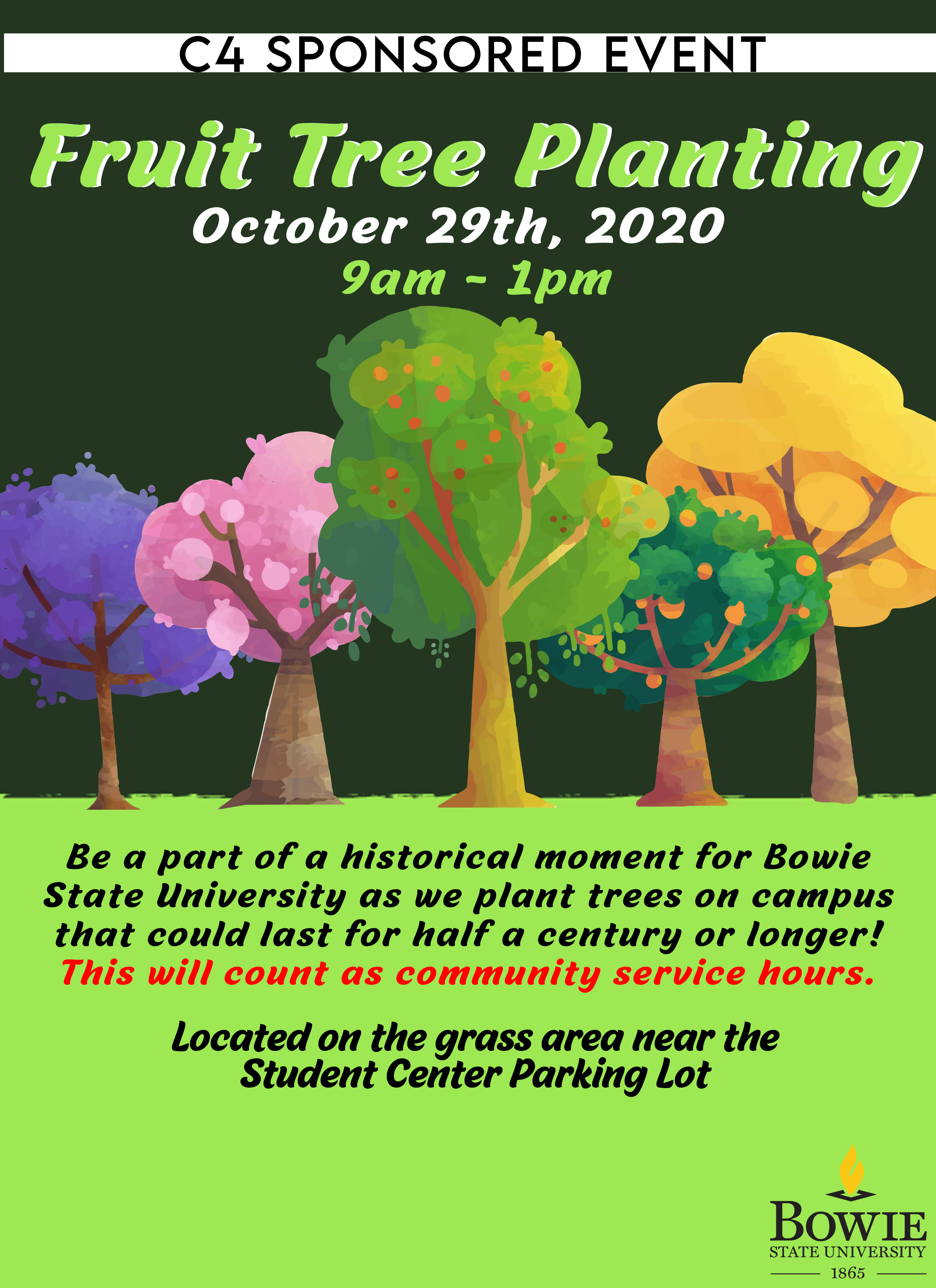 fruit tree planting event flyer